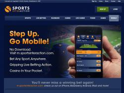 page site web sports interaction mobile